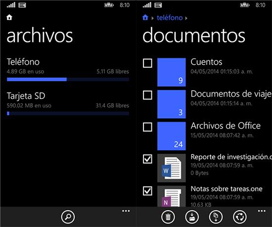 Ya puedes descargar 'Archivos', el gestor de carpetas de Windows Phone 8.1
