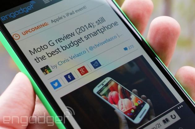 Lumia 735 checks out a rival