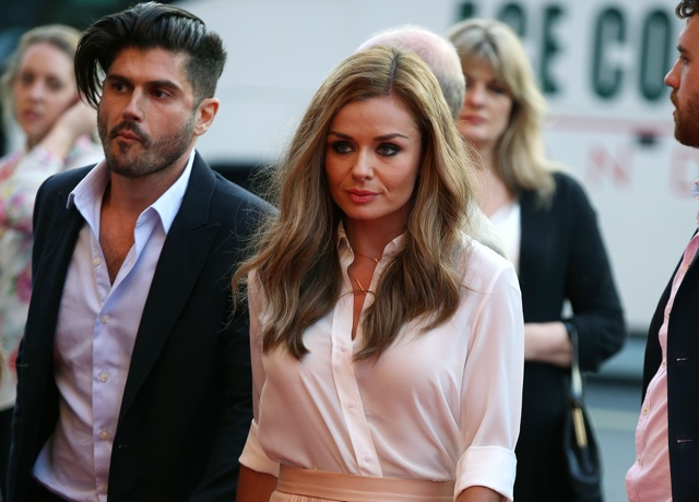 Katherine Jenkins' honeymoon is over as she gets to work in New York