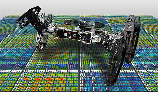 Watch this little robot learn to walk after taking damage
