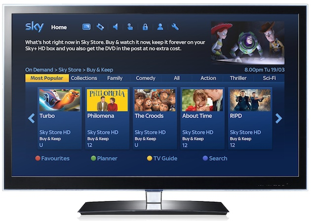 Sky launches its movie download store that also pops a DVD in the post