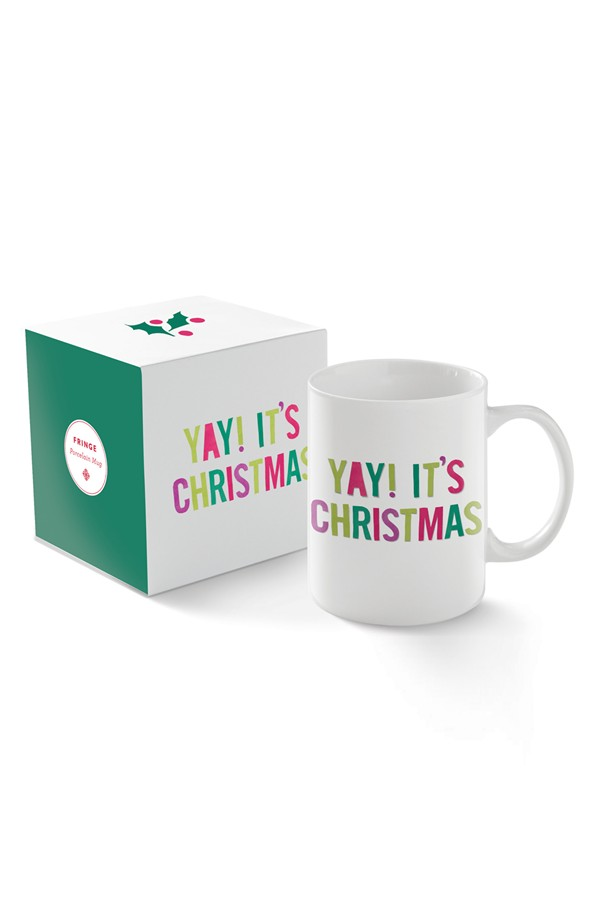 Fringe Studio 'Yay! It's Christmas' Mug