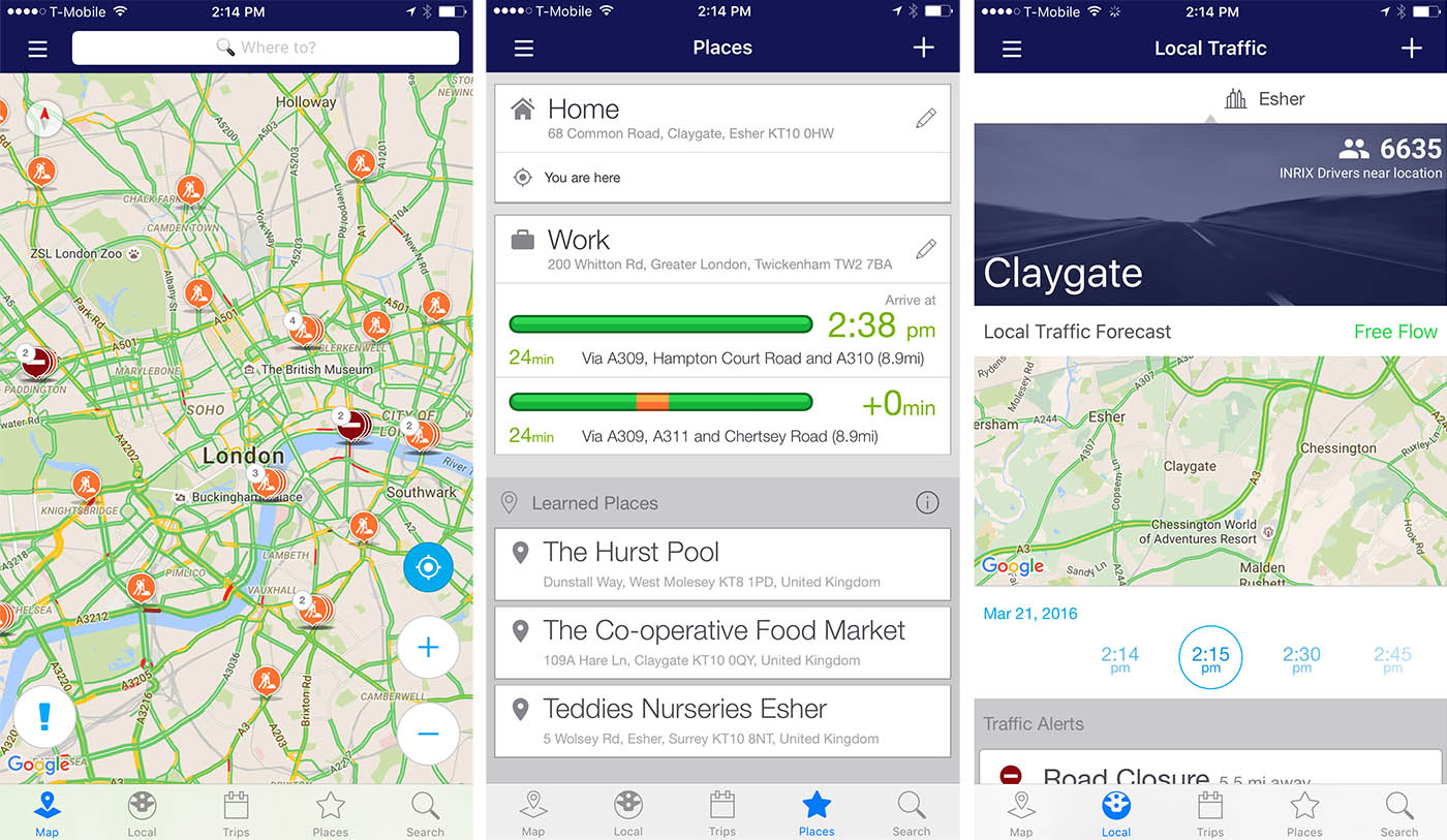 Inrix Traffic app uses AI to learn your driving habits