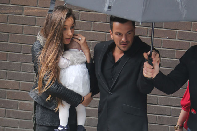 Peter Andre and Emily MacDonagh step out with baby Amelia