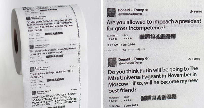 Bestseller: Klopapier mit Trump-Tweets