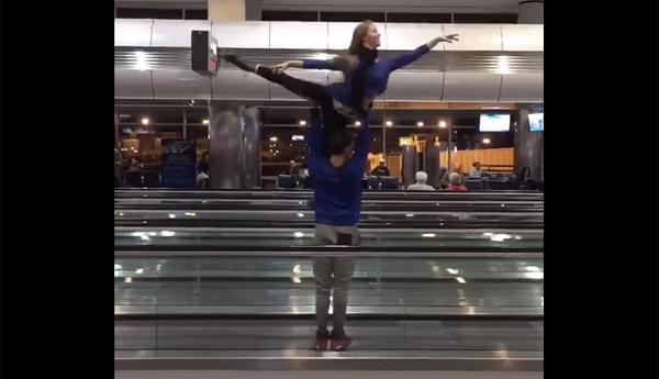 「待ち時間が長すぎたから踊っちゃった!?空港の待ち時間にバレエ団が見せたパフォーマンスがカッコよすぎる【動画】
