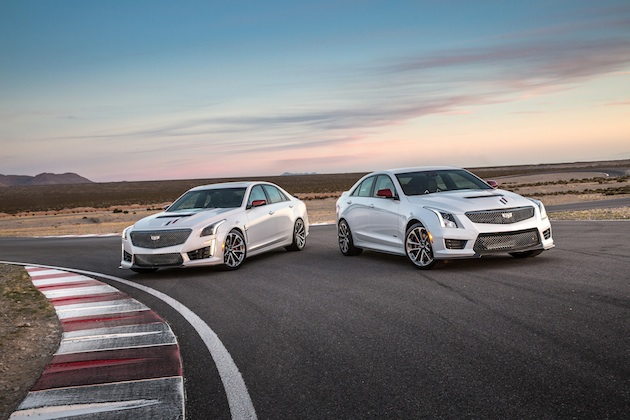 Cadillac celebrates its record-breaking return to endurance racing with The Championship edition of all three of its high-performance models – the 2018 Cadillac ATS-V coupe and sedan, and the 2018 Cadillac CTS-V super sedan.