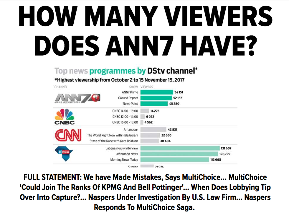 'Monopolistic' Multichoice slammed for ANN7 move
