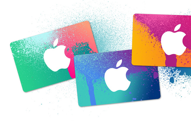 iTunes gift card apple