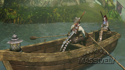 Row row row your boat gently down the stream, if you're incredibly lucky or maybe just invisible, you won't get PKed in the face