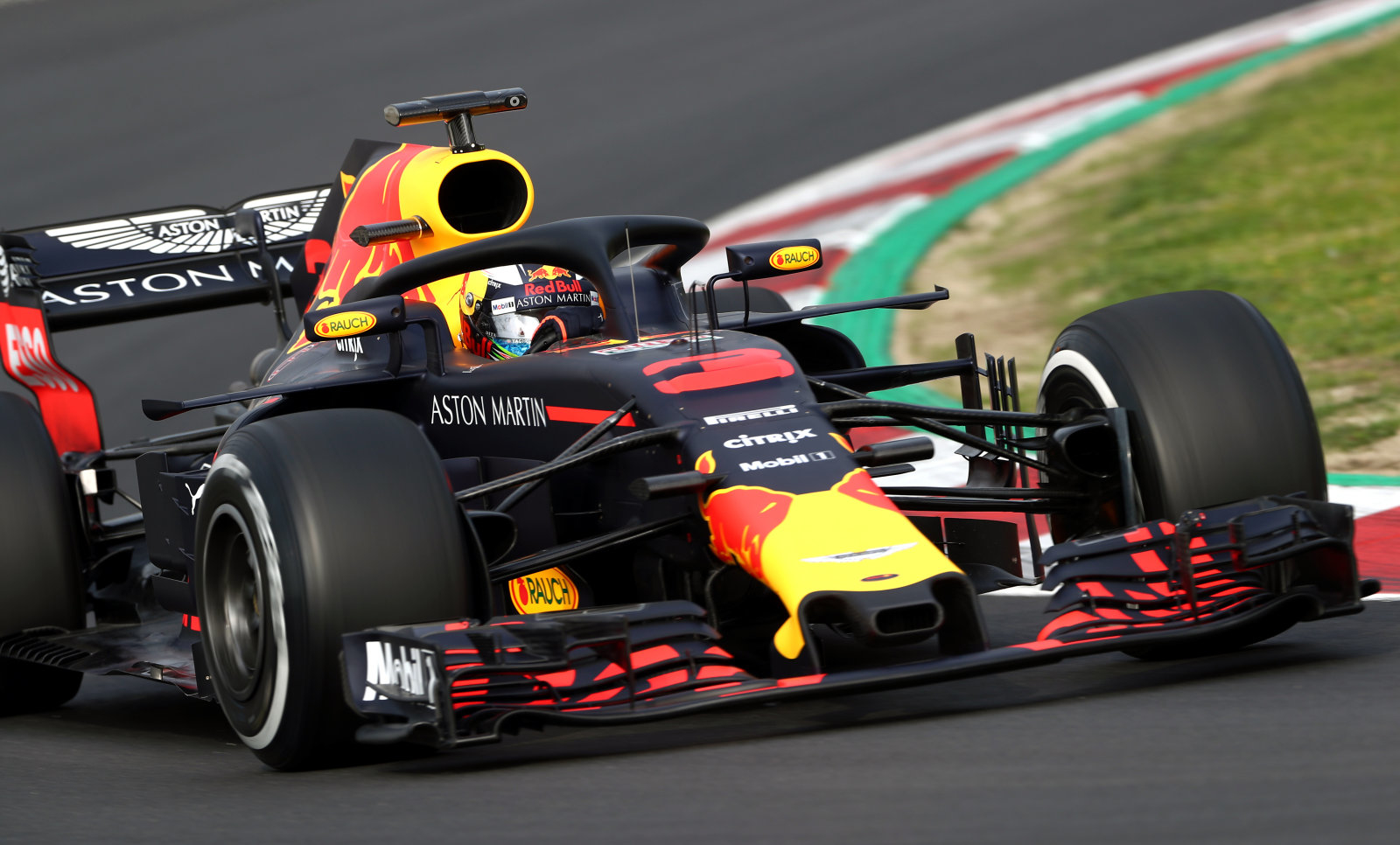 Red Bull's Daniel Ricciardo during day one of pre-season testing at the Circuit de Barcelona-Catalunya, Barcelona.