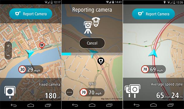 El avisador de radares de TomTom llega a Android
