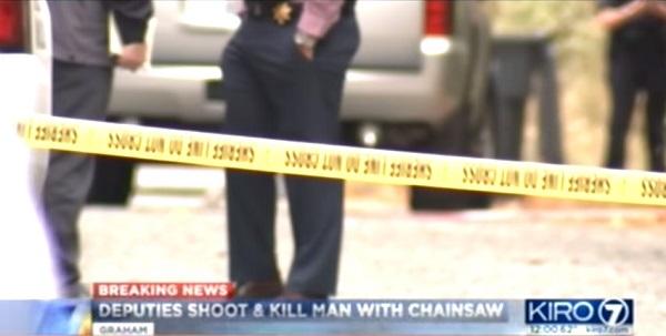 米でチェーンソーを持った男が保安官代理に向かって突進した末に死亡