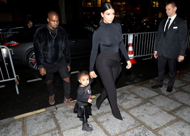 Kim Kardashian and Kanye West take North West to Balenciaga at Paris Fashion Week
