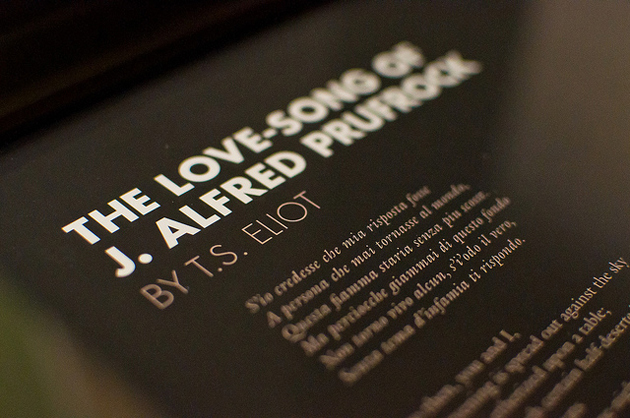 a review of ts eliots the love song of jalred prufrock Lecture 11 - ts eliot (cont) overview professor hammer's discussion of the love song of j alfred prufrock continues with particular attention paid to the poem's psychological, social, and generic elements.