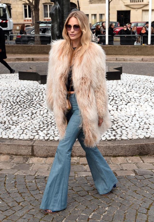 Poppy Delevingne at Paris Fashion Week