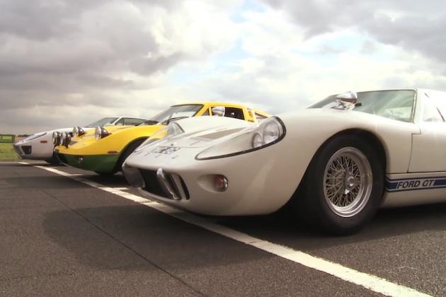 【ビデオ】フォードのハイパフォーマンスカー、「GT40」「GT70」「GT」の3台がドラッグレース!