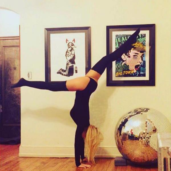 Naughty girl photos, thenaughtyyogini, hot Instagram models, bondage yoga