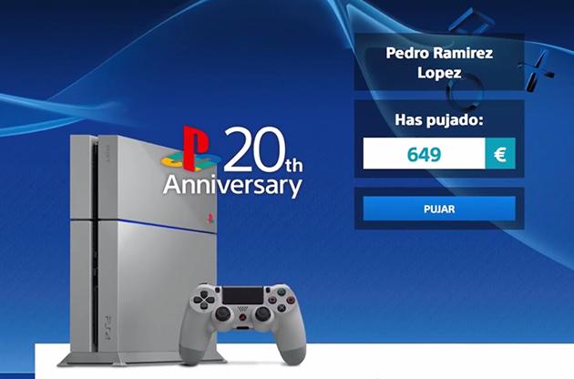¿Quieres una PS4 edición 20 aniversario? En España tendrás que pujar por ella