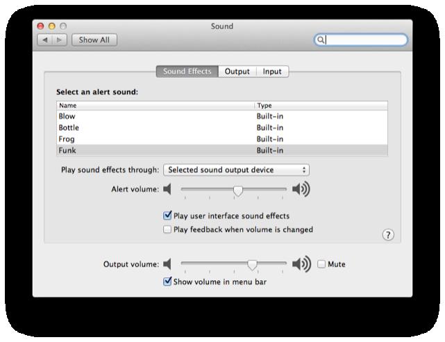 Apple Sound Preference