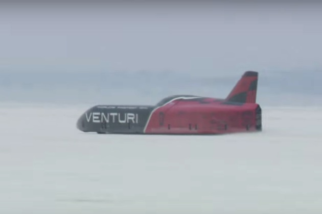 ヴェンチュリ「VBB-3」が悪条件の中、ボンネビルでクラス最速記録を更新!