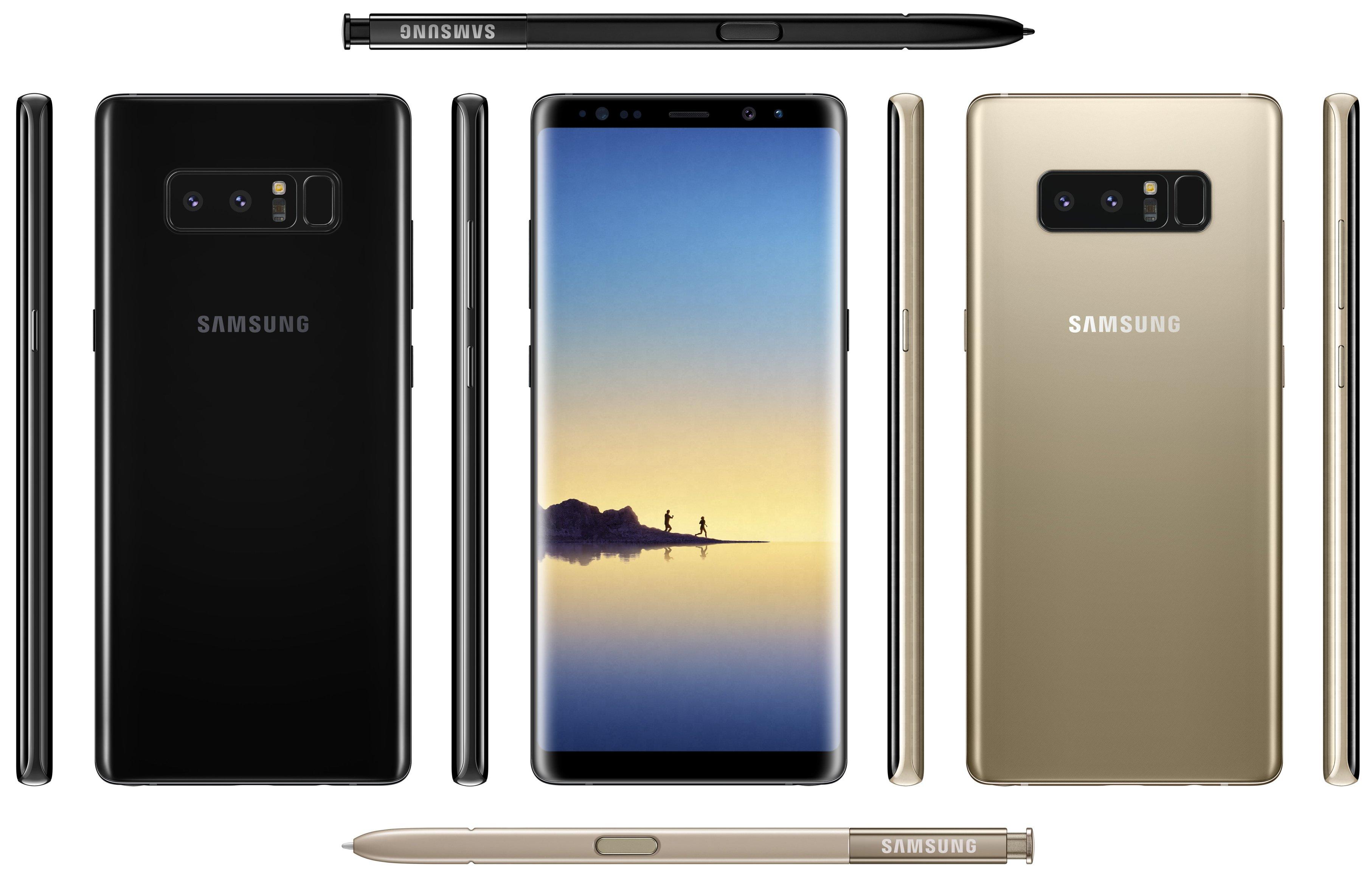 Filtran imágenes oficiales del Galaxy Note 8