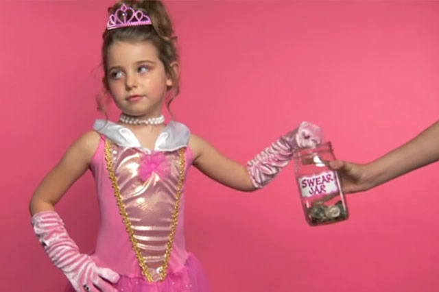 Watch little girls dressed as princesses swear like sailors for feminism