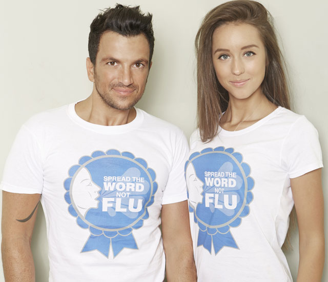 peter andre and emily macdonagh support flu vaccine campaign