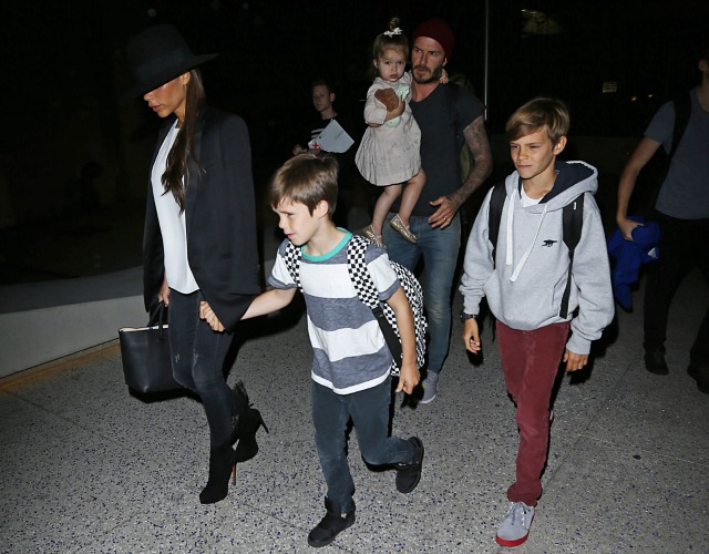 The Beckhams at LAX
