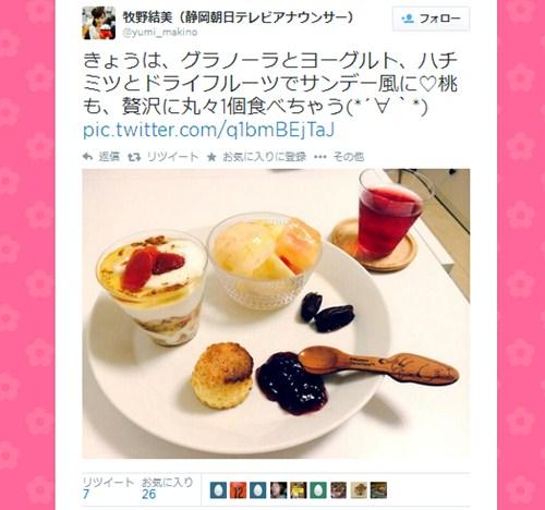 お嬢様系人気女子アナ・牧野結美(24歳)の食卓画像、「女子力高すぎ」「結婚したい」と絶賛