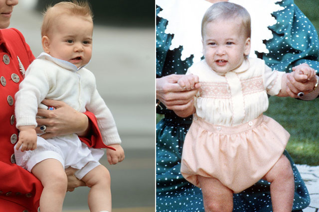 Prince George is the spitting image of Prince William as a baby