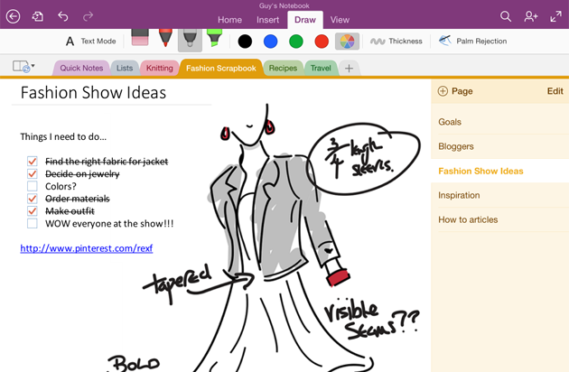 OneNote for iPad finally gets handwriting support