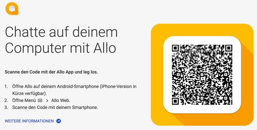 Google-Messenger Allo jetzt mit Web-Oberfläche