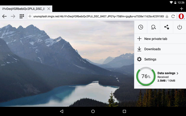 Opera Mini finally behaves like a native Android web browser