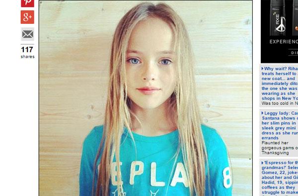 【おそロシア】美しすぎるファッションモデル(9歳!)に世界中が絶賛の嵐