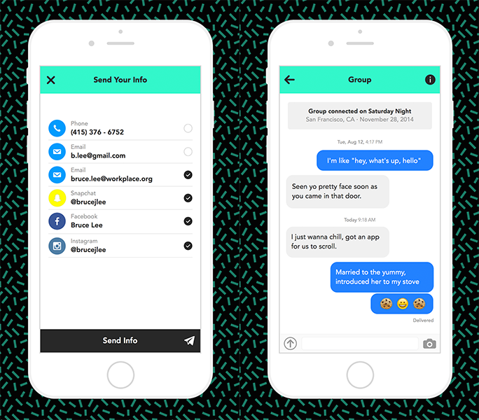Knock twice for friendship with this app