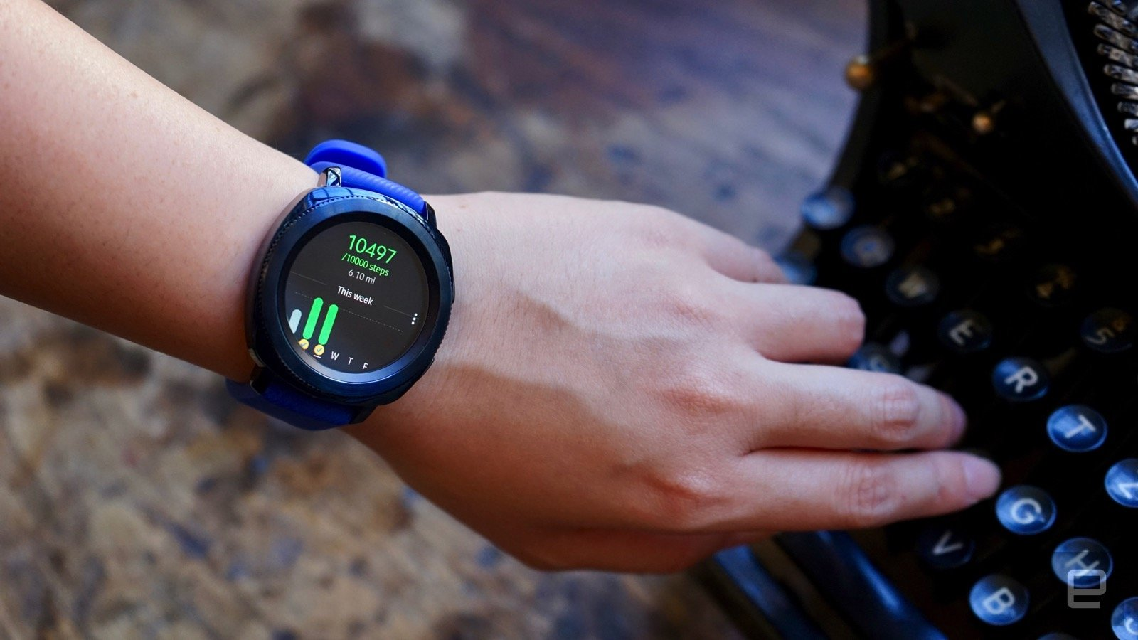 photo image Samsung's Gear Sport smartwatch hits stores this month for $300