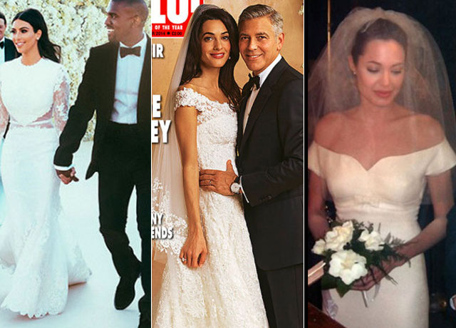 Celebrity Weddings 2017 All The Best Dresses From These Famous Brides