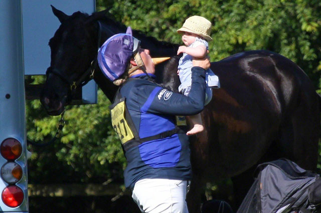 Zara Phillips takes baby Mia to horse trials