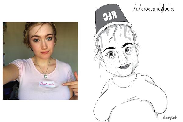 reddit roast me sketches, reddit caricature art sketchycrab