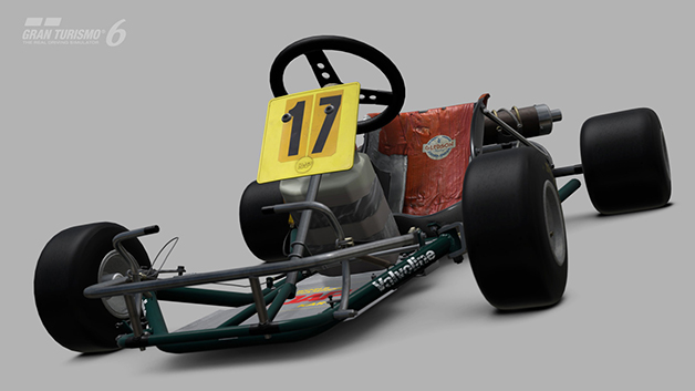 One of Ayrton Senna's first karts, built by DAP, is available in a new DLC package for Sony's Gran Turismo 6 video game.