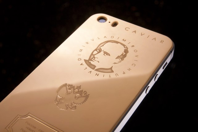putin gold iphone