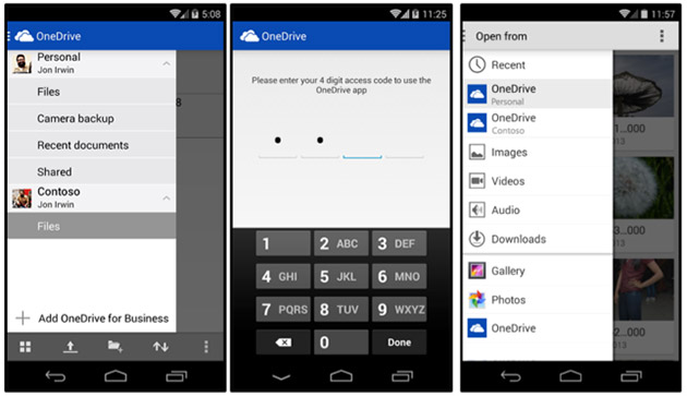 Microsoft OneDrive for Android now lets you mix business with pleasure