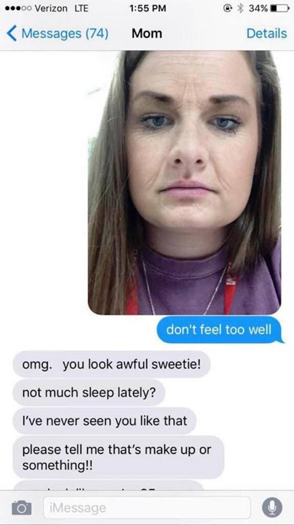 Girl Scares The Hell Out Of Her Mom By Pranking Her With Filter That Makes You Look Older