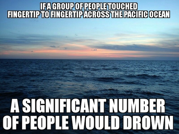 obvious facts, obvious fact memes, fingertip to fingertip pacific ocean
