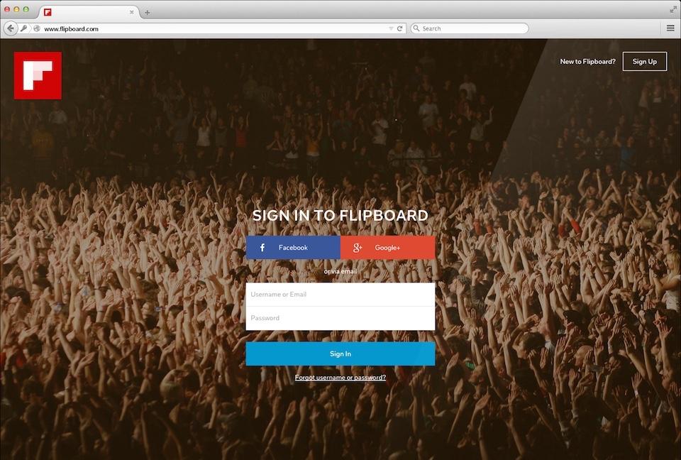 Flipboard finally brings its social news reader to the web