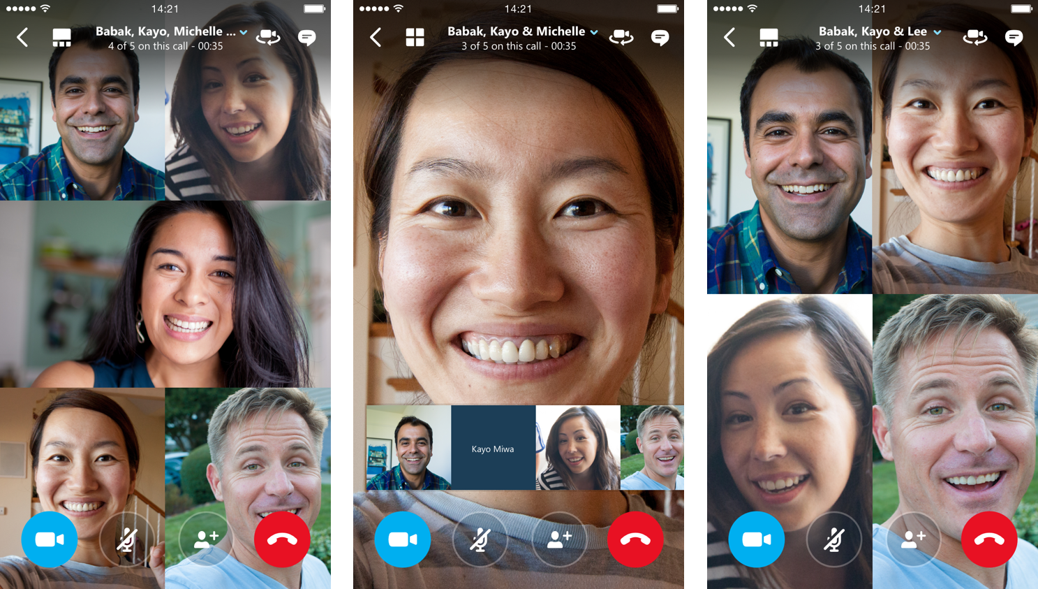 Skype's Android and iOS apps let you video chat with 24 other people