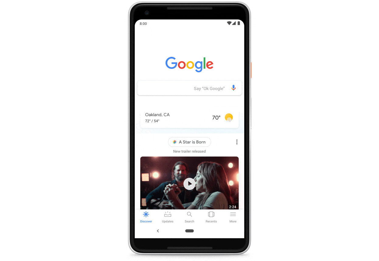 Google Feed gets renamed Discover, will appear on mobile homepage