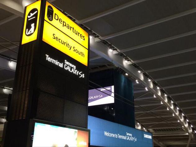Samsung branding at Heathrow Terminal 5