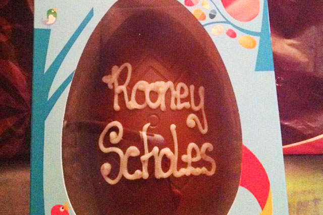 Shop staff refused to ice Easter egg for boy named Rooney
